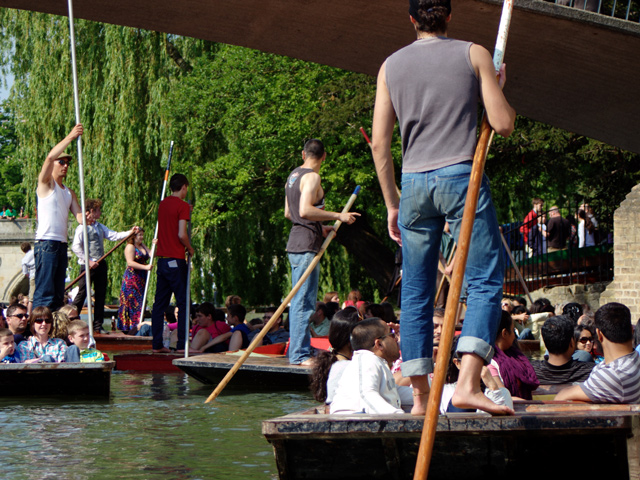Ausflug nach Cambridge: Punting